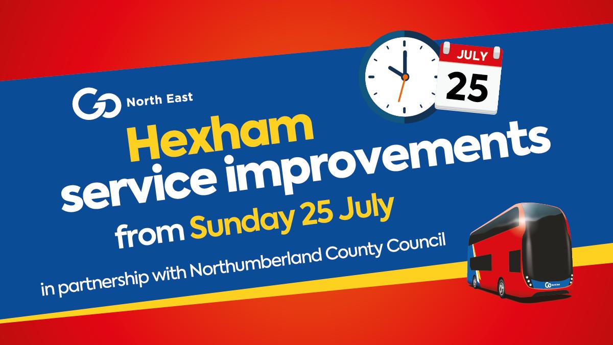 Hexham service improvements from Sunday 25 July