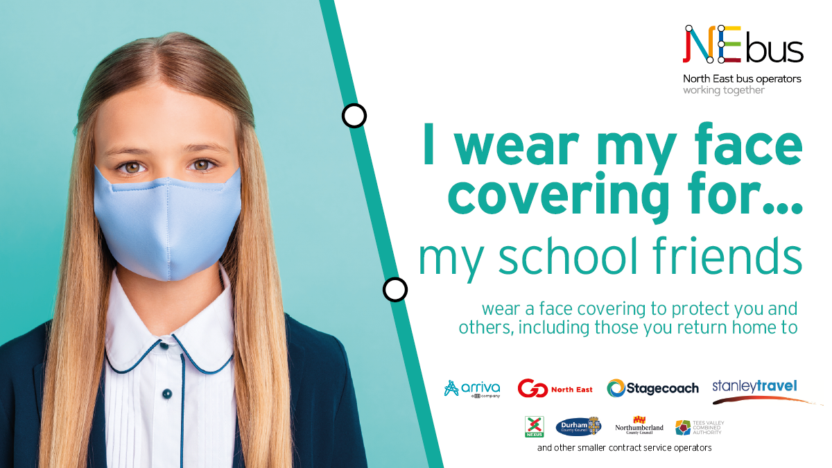 NEbus face covering - for my school friends