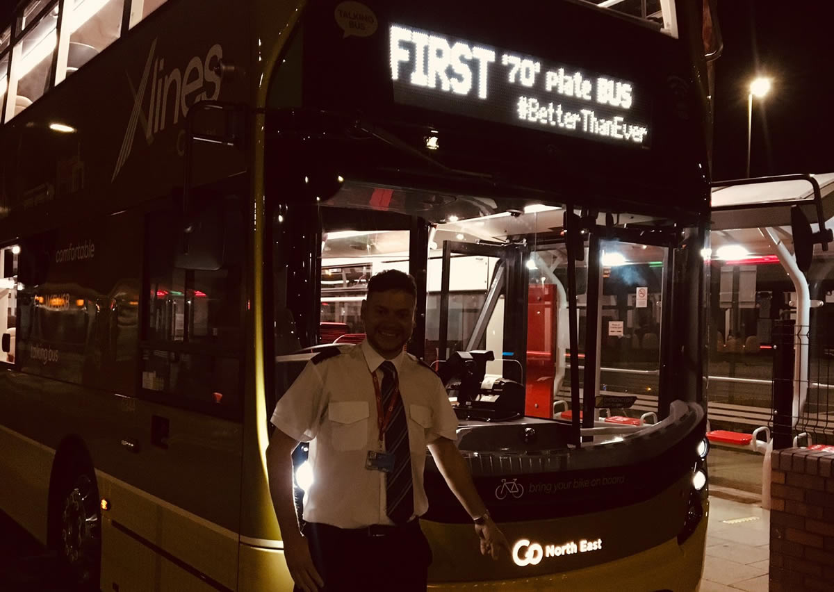 First new 70 plate bus