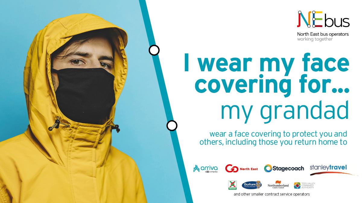 NE bus face covering - for my grandad