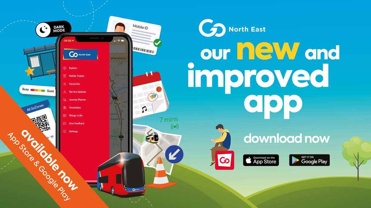 The new and improved Go North East app