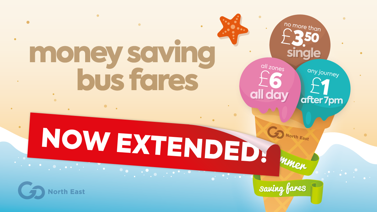 Summer saving fares - now extended