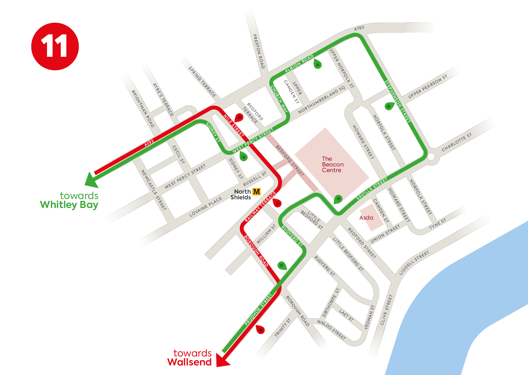 North Shields - Little Coasters 11 route change