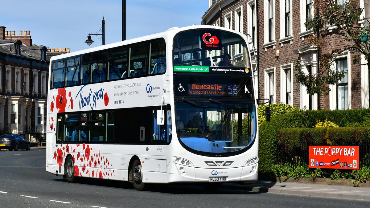 Go North East's poppy bus