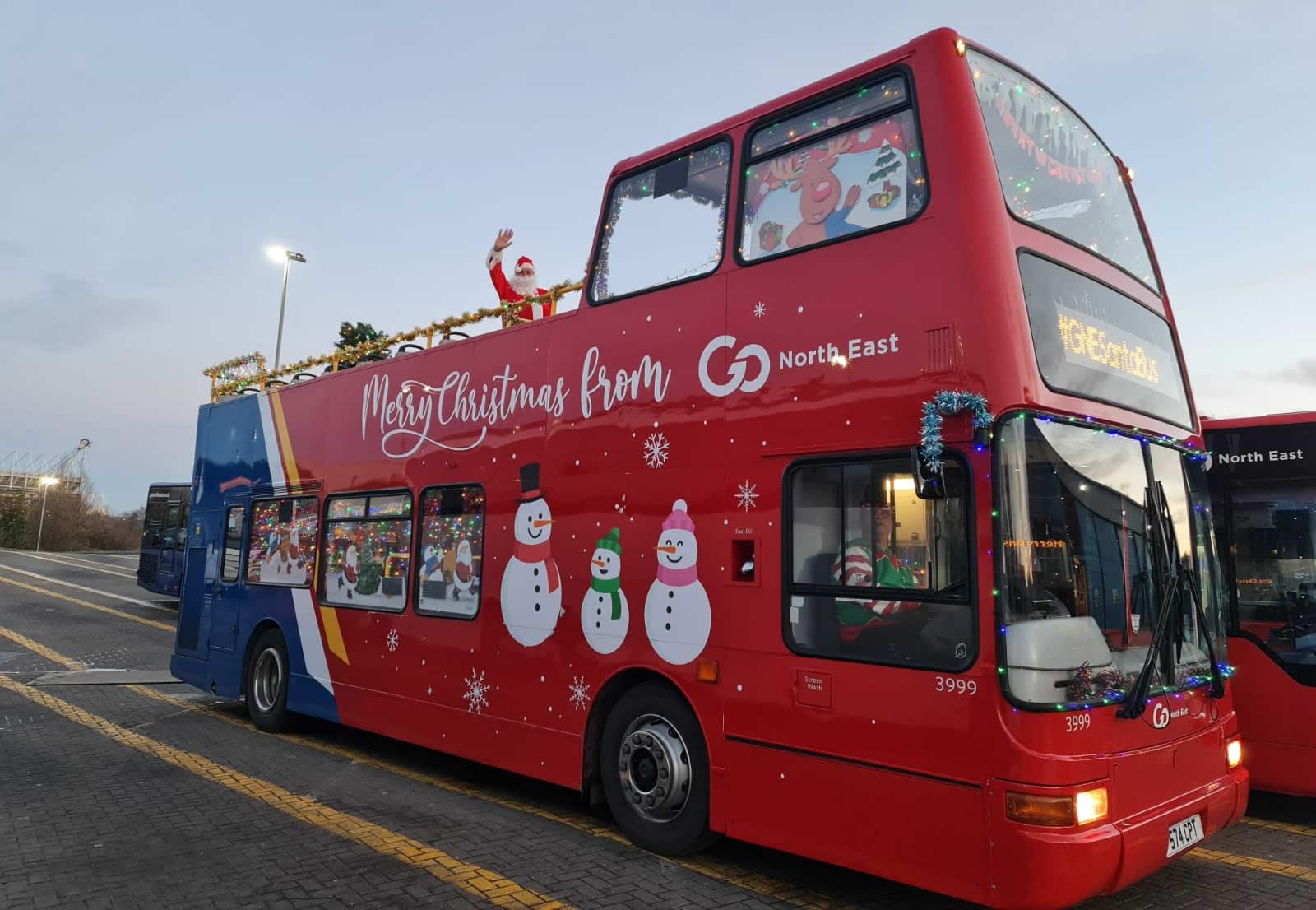 Santa bus tour