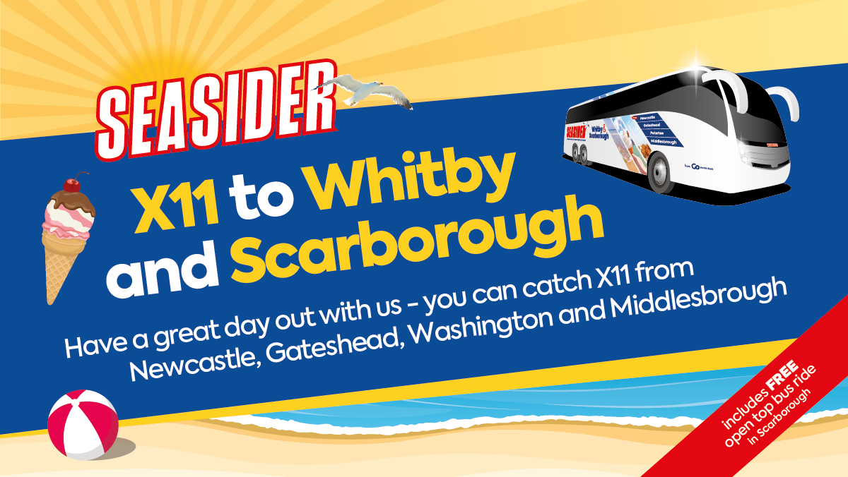 Seasider X11 to Whitby and Scarborough
