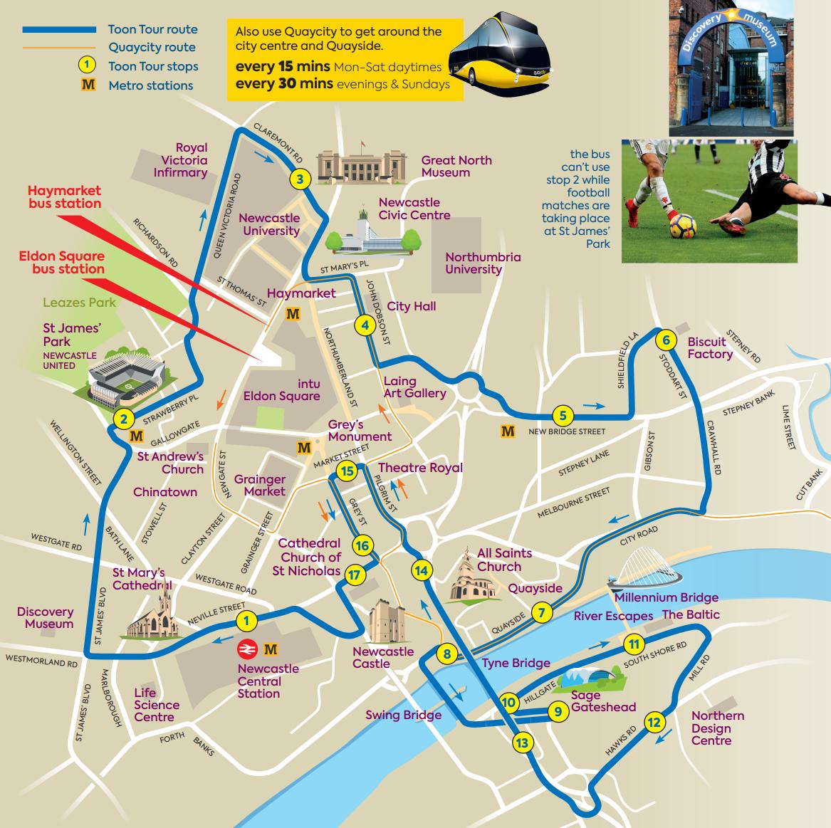 Toon Tour route
