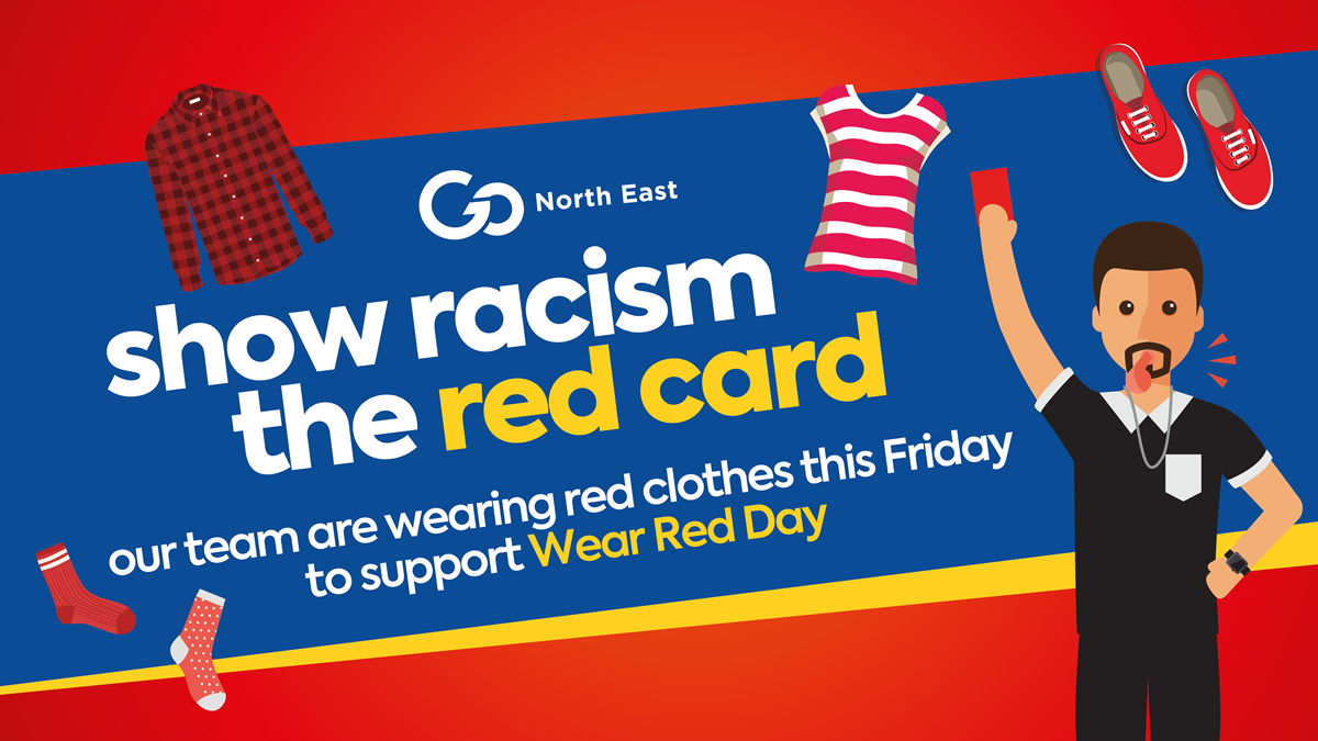 Show Racism the Red Card's Wear Red Day
