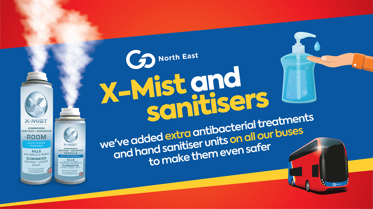 X-Mist and hand sanitiser units
