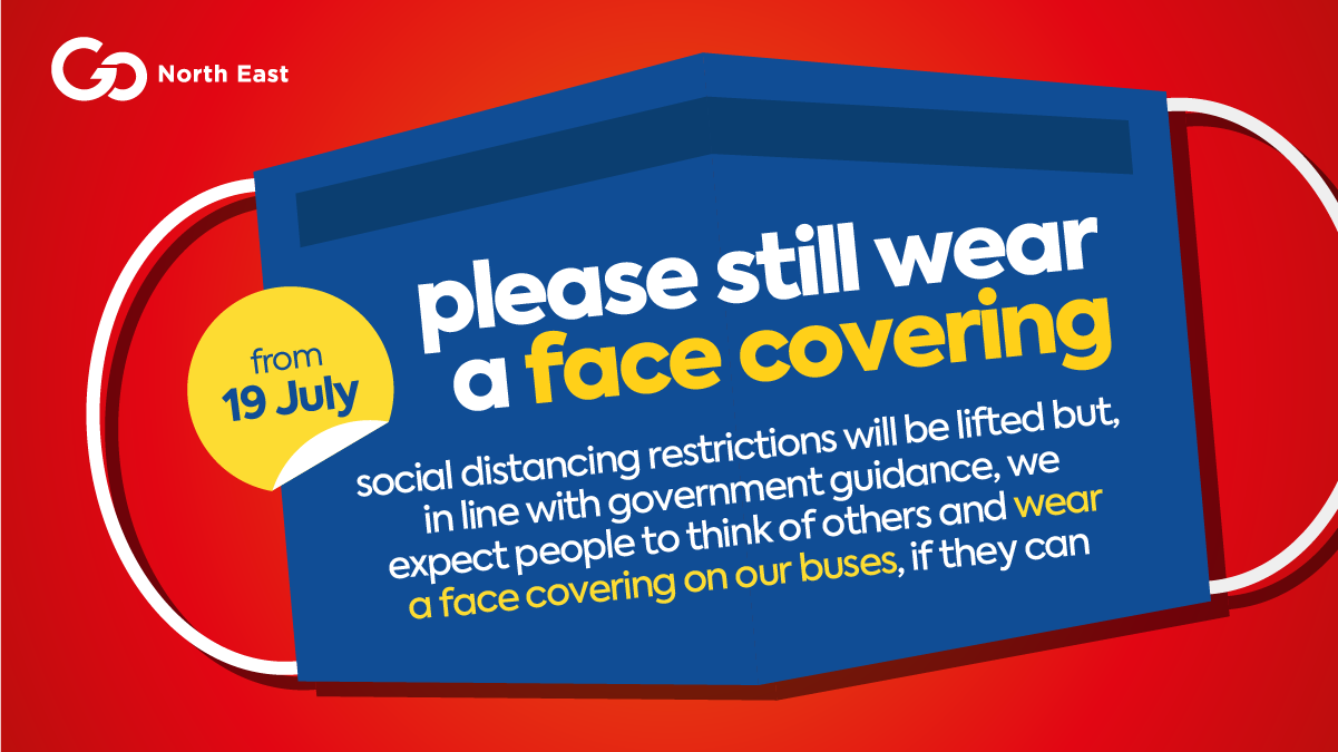 Face coverings and social distancing from Monday 19 July